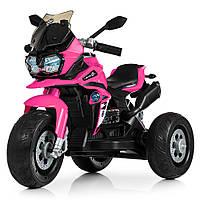 Электромотоцикл детский M 4117EL-8 розовый Гарантия качества Быстрая доставка, фото 1