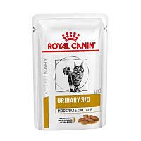 Royal Canin Urinary S/O Moderate Calorie лечебные консервы для лечения мочекаменной болезни 85г*12шт