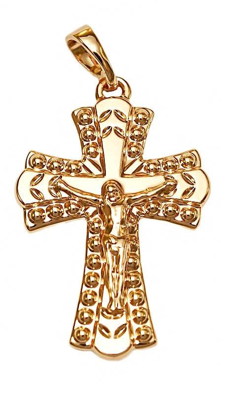 Крестик Xuping. Медицинское золото.