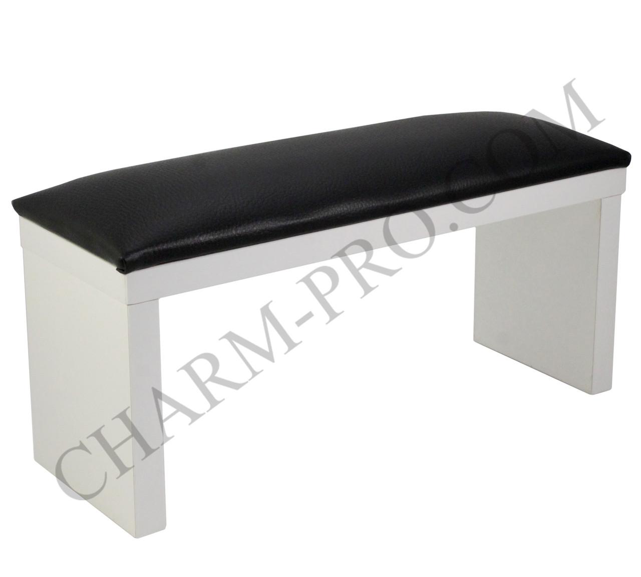 Маникюрная подставка для рук (Подлокотник) Черный на белых ножках