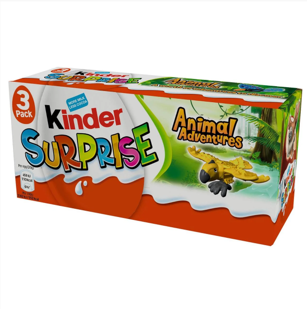 Шоколад Kinder Surprise Animal Adventures 60 g