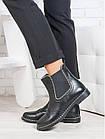 Кожаные женские ботинки челси из кожи