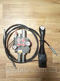 Комплект підключення фронтального навантажувача (розподільник + трос + джойстик)