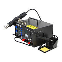 Паяльная станция LUKEY 853D (фен, паяльник, блок питания 15V 2A, тестер)