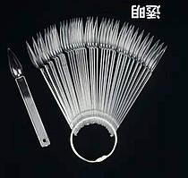 Палитра - веер на кольце прозрачная на 50 шт(коготь)