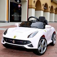 Детский электромобиль M 3176 EBLR-1 Ferrari с кожаным сиденьем, белый