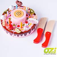 Деревянный игровой набор Торт MD 1249