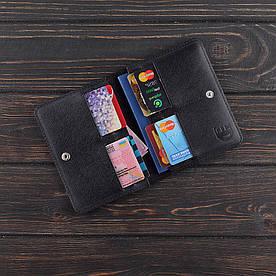 Обложка на паспорт v.2.0. FIsher Gifts BUSSINES портофино черный (кожа)