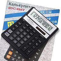Калькулятор 12-разрядный SDC-888T Citizen черный, XBK
