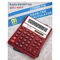 Калькулятор 12-разрядный SDC-888T Citizen красный, XRD