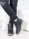 Кожанные мужские ботинки на меху