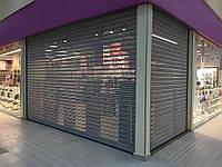 Рулонные ворота с внутривальным электроприводом из перфорированного стального профиля DoorHan RHS117P/08, фото 1