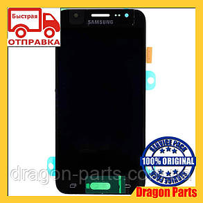 Дисплей Samsung J500 Galaxy J5 с сенсором Черный Black оригинал , GH97-17667B, фото 2