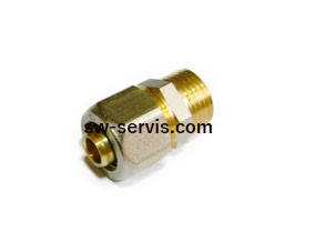Муфта для металопластикових труб 26*3 4 з зовнішньою різьбою