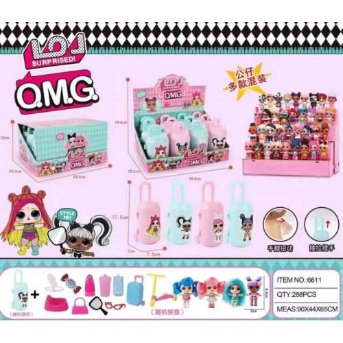Кукла L (чемодан кукла с волосами) ОМ6 17 5 * 7 * 7 5см 12 шт в коробке