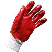 WERK WE2111 Перчатки рабочие обрезиненные красные, фото 1