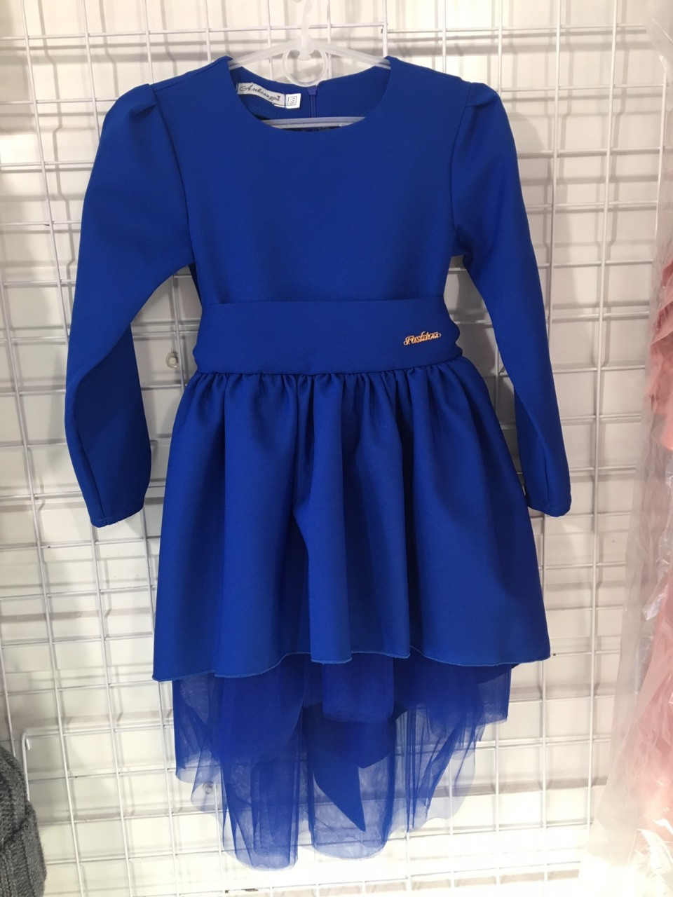 Детское нарядное платье р.116-134 опт синие