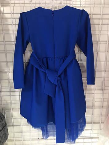 Детское нарядное платье р.116-134 опт синие, фото 2