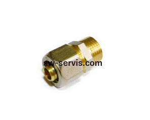 Муфта для металопластикових труб 26*1 з зовнішньою різьбою