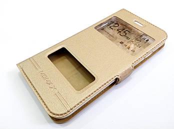 Чехол книжка с окошками momax для iPhone 8 Золотистый