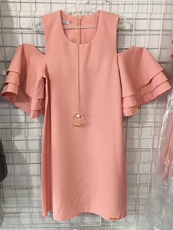 Платье нарядное для девочки р.122-146 опт персик, фото 2