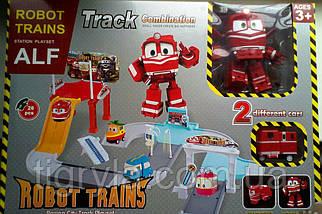 Трек  Роботы Поезда Альф робот трансфомер, фото 3