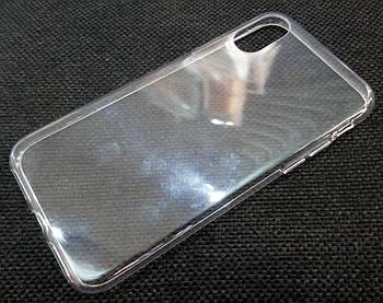 Чехол для iPhone XS силиконовый прозрачный