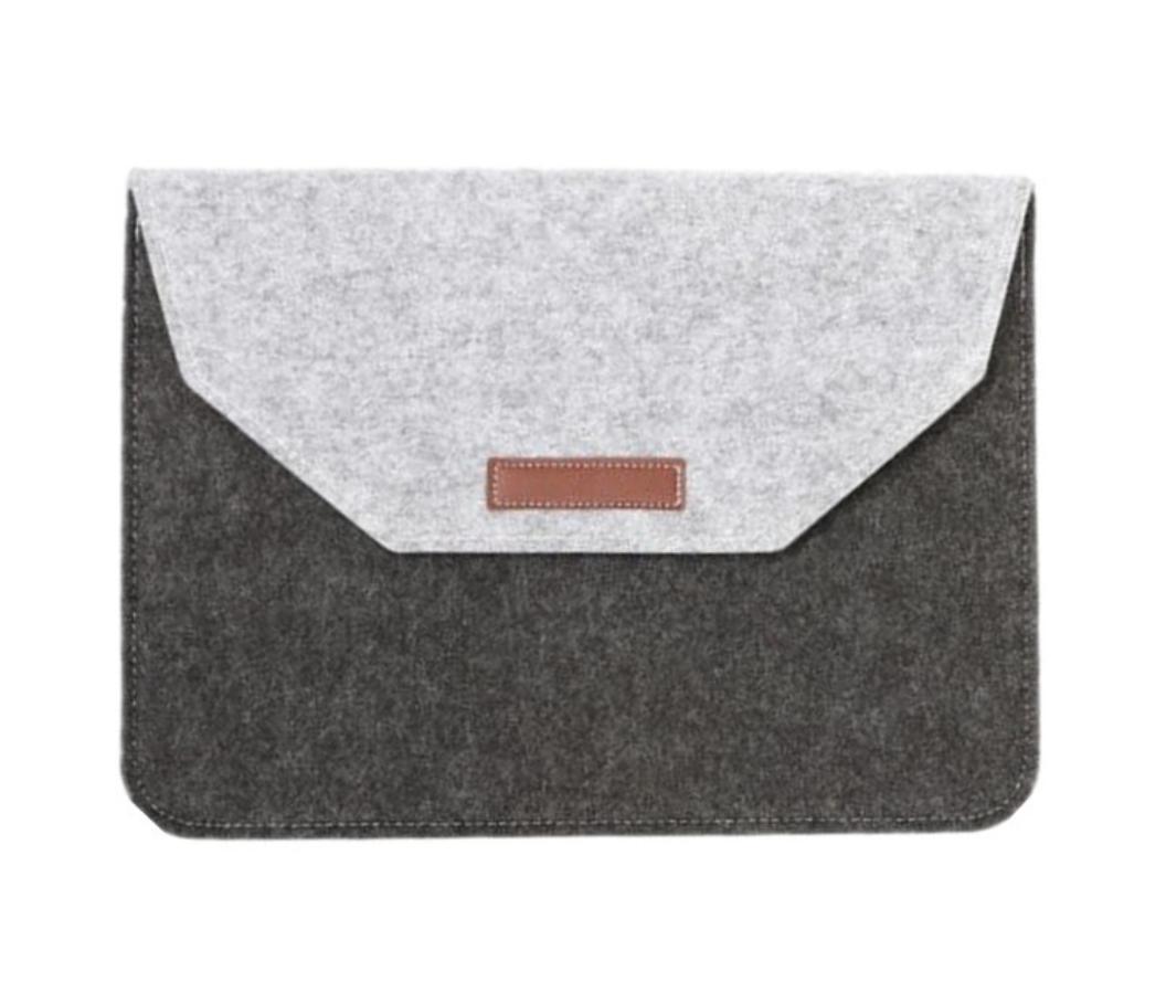 "Чохол-конверт з фетру для Macbook 12/ Air11.6"" - чорно-сірий"
