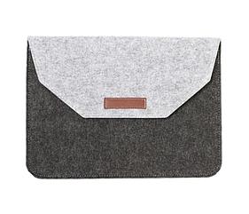 Чехол-конверт из фетра для Macbook 12/  Air11.6'' - черно-серый