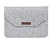 """Чохол-конверт з фетру для Macbook 12/ Air11.6"""" - чорно-сірий, фото 3"""