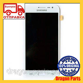 Дисплей Samsung J200 Galaxy J2 с сенсором Белый White оригинал , GH97-17940A