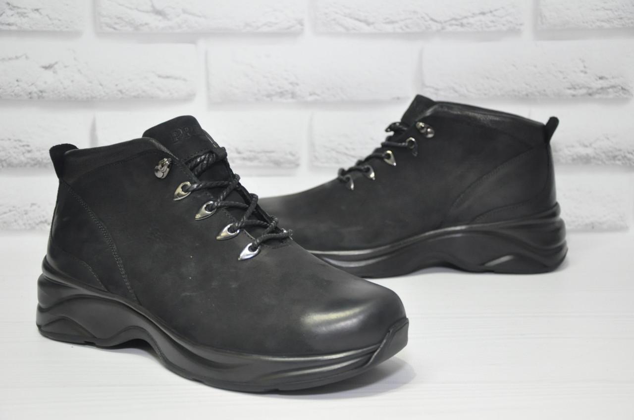 Мужские повседневные зимние ботинки натуральный нубук Prime