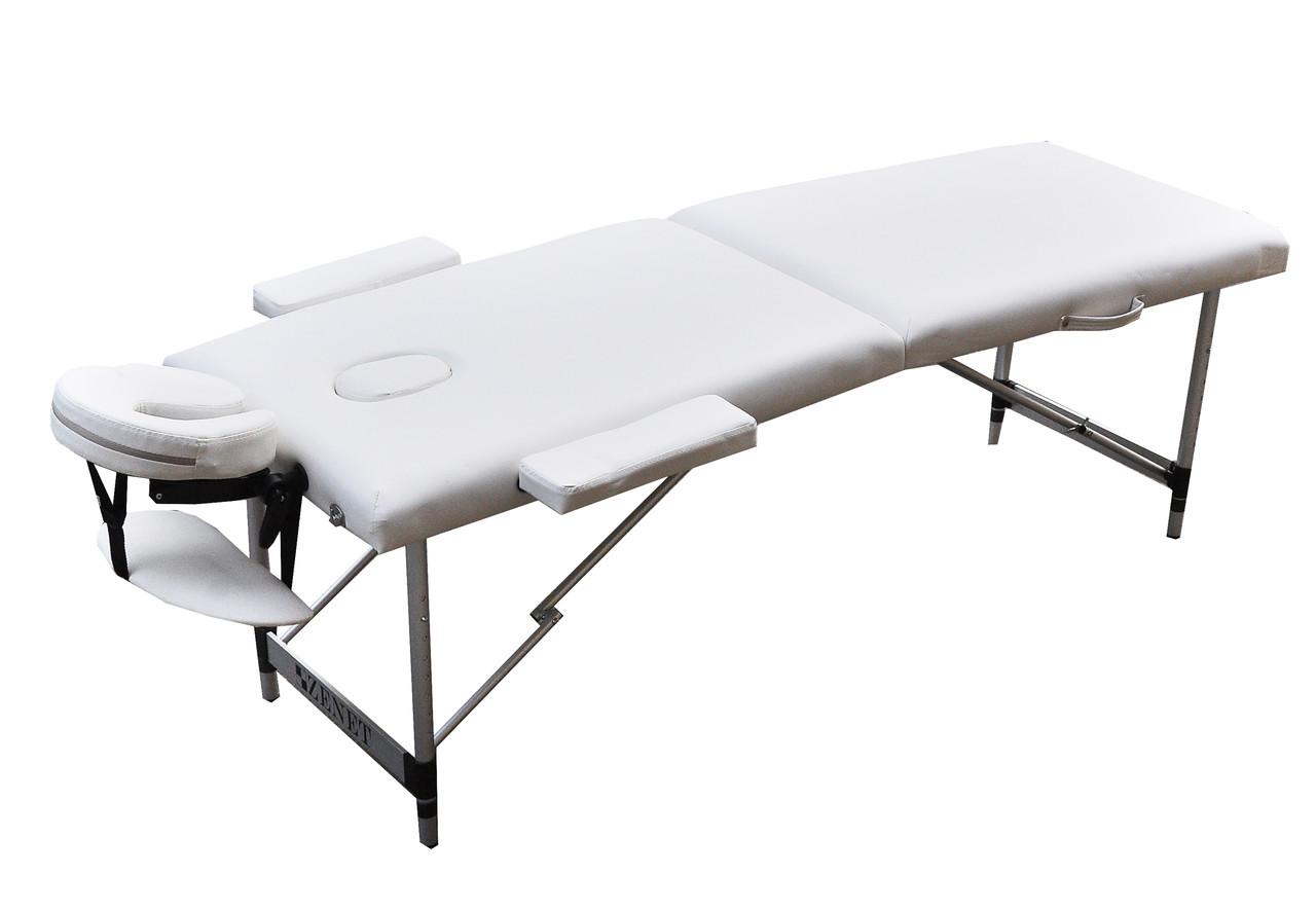 Массажный стол  ZENET  двухсекционный ZET-1044 WHITE  размер S ( 180*60*61)