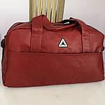 Спортивная сумка мужская женская Reebok дорожная сумка кожзам, фото 4