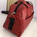 Спортивная сумка мужская женская Reebok дорожная сумка кожзам, фото 6
