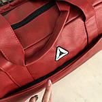 Спортивная сумка мужская женская Reebok дорожная сумка кожзам, фото 7