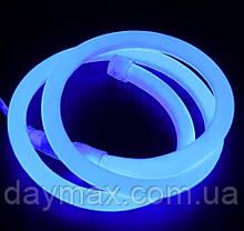 Светодиодный гибкий неон PROLUM  Круглый 2835\120 IP68 220V синий