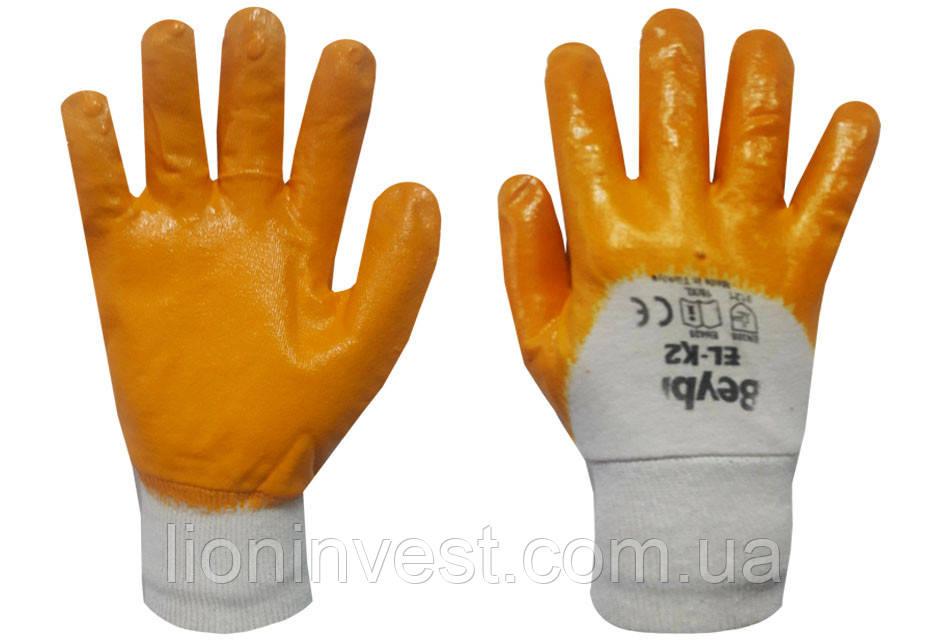 Перчатки трикотажные с неполным нитриловым покрытием