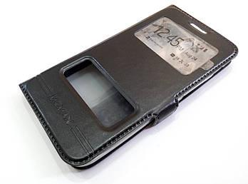 Чехол книжка с окошками для Asus Zenfone Go ZC451TG черный