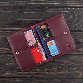Обложка на паспорт v.2.0. Fisher Gifts STANDART вишня (кожа)