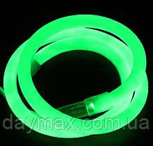 Светодиодный гибкий неон PROLUM  Круглый 2835\120 IP68 220V зелёный