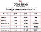 Женское белье комплект малиновый с черным кружевом Obsessive 861-SEG-5, фото 9