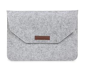 Чехол-конверт из фетра для Macbook Pro 15,4'' - серый