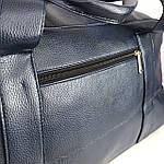 Спортивная сумка мужская женская Reebok дорожная сумка кожзам Синяя, фото 6