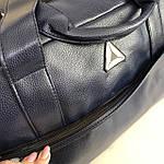 Спортивная сумка мужская женская Reebok дорожная сумка кожзам Синяя, фото 7