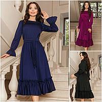 Р 42-58 Ошатне плаття міді, з воланами 20735, фото 1