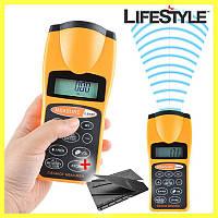 Лазерная линейка 3007 test distance, рулетка ультразвуковая, дальномер + ПОДАРОК!!! Нож-визитка CardSharp