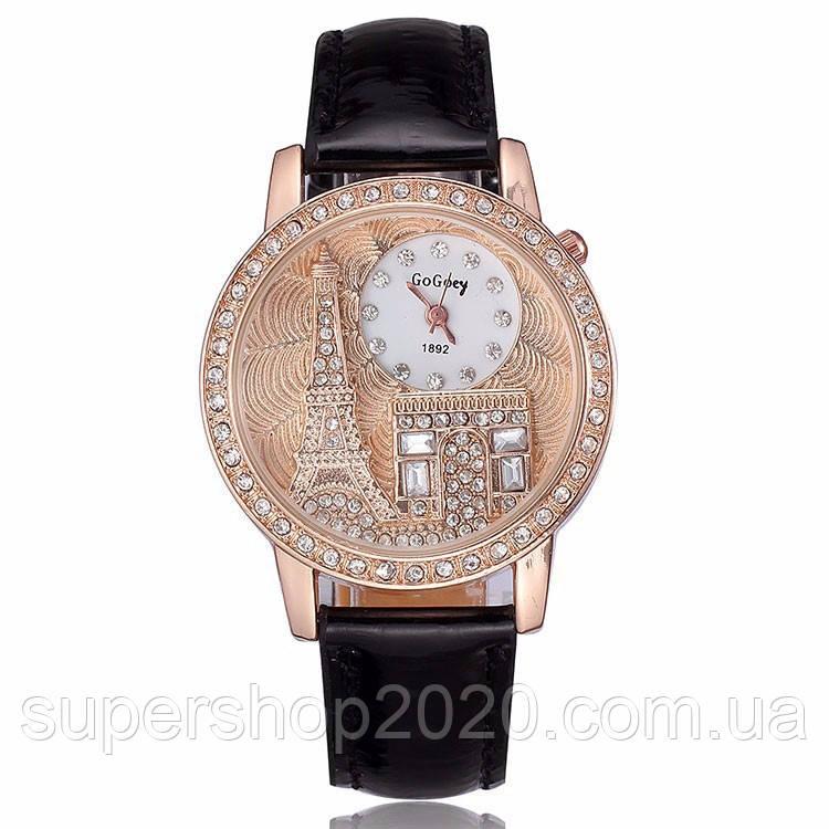 Жіночі годинники GoGoey,чорний ремінець