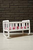 Кроватка для куклы (Бук) Белая НОВИНКА
