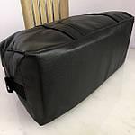 Спортивна шкіряна сумка чоловіча жіноча дорожня сумка Puma кожзам чорна, фото 3